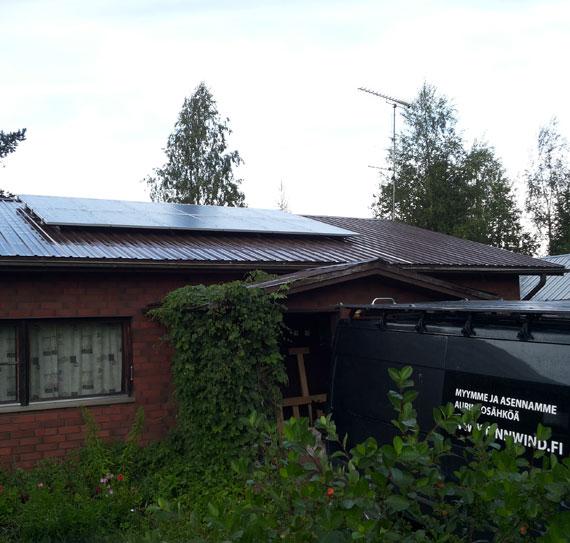 3 kWp aurinkovoimala omakotitalo