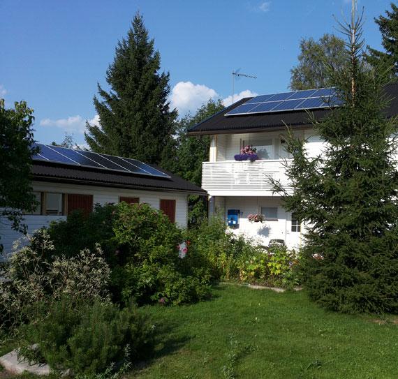 Omakotitalon aurinkosähköjärjestelmä