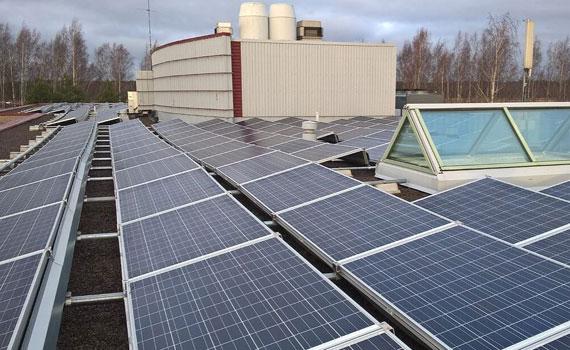 Aalto-yliopiston aurinkovoimala 103 kWp
