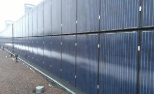 Musta paneeli seinäasennus aurinkovoimala